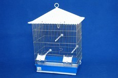 1/2 VIVEIRO PORTUGUES ALTO CROMADO 40*26*62 - Gaiolas para aves - Produtos para aves
