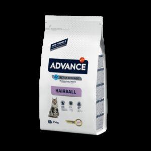 ADV CAT HAIRBALL PERU/ARROZ 1.5 KG - Advance - Produtos para gato