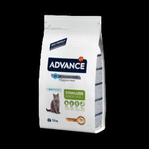 ADV CAT KITTEN STERZ. FRANGO/ARROZ 1.5 KG - Advance - Produtos para gato