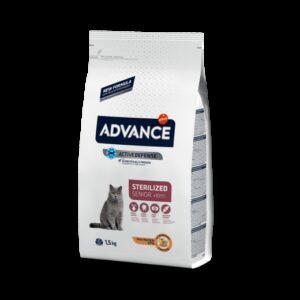ADV CAT STERILIZED SENIOR 10+ PERU/ARROZ 1.5 KG - Advance - Produtos para gato