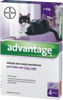 ADVANTAGE GATO + 4 KG CX4 - Antiparasitários - Tratamentos para gato