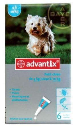 ADVANTIX CAO 4 A 10 KG CX4 - Antiparasitários - Tratamentos para cão