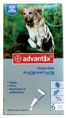 ADVANTIX CAO MAIS 25 KG CX4 - Antiparasitários - Tratamentos para cão