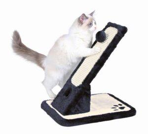 ARRANHADOR EM PELUCIA/SISAL C/ 2 BRINQUEDOS (PRETO/ BRANCO) - Acessórios para gato - Produtos para gato