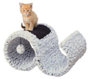 ARRANHADOR LORA P/ GATOS (BRANCO MOSQUEADO) - Acessórios para gato - Produtos para gato