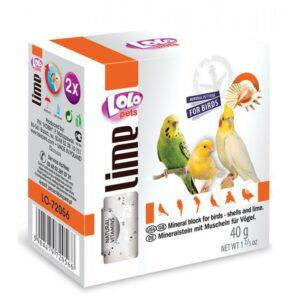 BLOCO MINERAL CASCA OSTRA 35 GR - Alimentação para aves - Varios