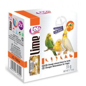 BLOCO MINERAL LARANJA 35 GR - Alimentação para aves - Varios