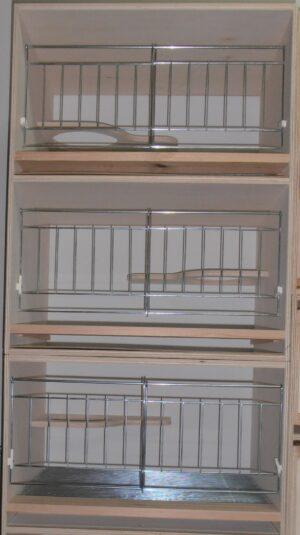 CACIFO 3 NINHO CHOUPO REPRODUTORES C/PRATELEIRA - Cacifos para pombos - Produtos para pombos