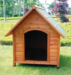 CASOTA CHALET SM 72*76*76 TELHADO 2 AGUAS - Casotas para cão - Produtos para cão