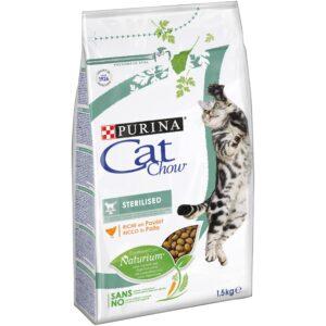 CAT CHOW ESTERILIZADO 1.5 KG - Alimentação para gatos - Produtos para gato