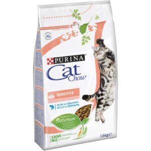 CAT CHOW SENSITIVE 1.5 KG - Alimentação para gatos - Produtos para gato