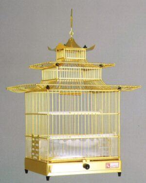 GAIOLA ALUMINIO 1001 GRANADA DOURADA - Gaiolas de alumínio - Produtos para aves