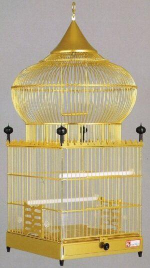 GAIOLA ALUMINIO 1003 ARGELINA DOURADA - Gaiolas de alumínio - Produtos para aves