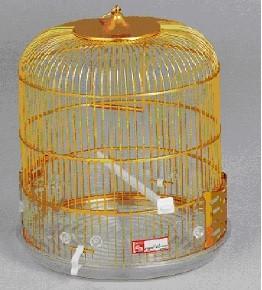 GAIOLA ALUMINIO 1008 RED. CUBETA DOURADA - Gaiolas de alumínio - Produtos para aves