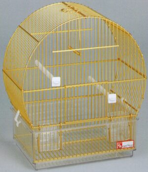 GAIOLA ALUMINIO 11 DOURADA - Gaiolas de alumínio - Produtos para aves