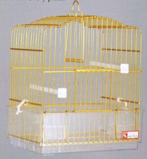 GAIOLA ALUMINIO 402 DOURADA - Gaiolas de alumínio - Produtos para aves