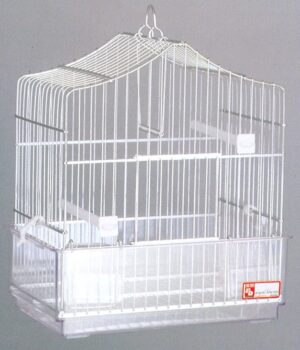 GAIOLA ALUMINIO 403 PRATA - Gaiolas de alumínio - Produtos para aves