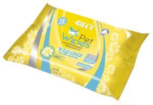 GILL´S TOALHETES 15 PCS CAMOMILA - Higiene para cão - Toalhetes para cão