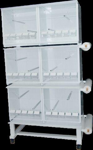 HT CONJ PASSARINHEIRA STYLE 1025*1900 C/ SUPORTE+PORTA-ROLOS+PAPEL - Produtos para aves - Viveiros para aves