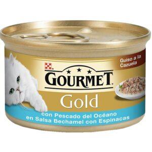 PU GOLD BECHAMEL PX OCEANO + ESPINAF 85 GR - Alimentação Humida para gatos - Purina Gold