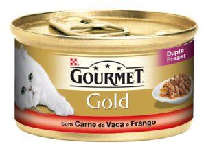 PU GOLD DUPLO PRAZER CARNE DE VACA + FRANGO 85 GR - Alimentação Humida para gatos - Purina Gold