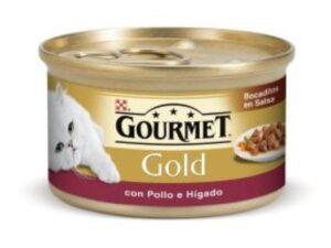 PU GOLD PED. FRANGO E FIGADO 85 GR - Alimentação Humida para gatos - Purina Gold