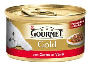 PU GOLD PED. MOLHO CARNE DE VACA 85 GR - Alimentação Humida para gatos - Purina Gold