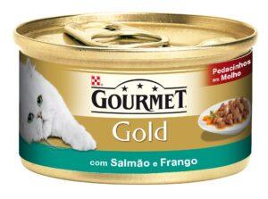 PU GOLD PED. MOLHO SALMAO E FRANGO 85 GR - Alimentação Humida para gatos - Purina Gold