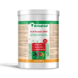 ROHNFRIED K+K PROTEIN 3000 600 GR - Produtos para pombos - Tratamentos para Pombos